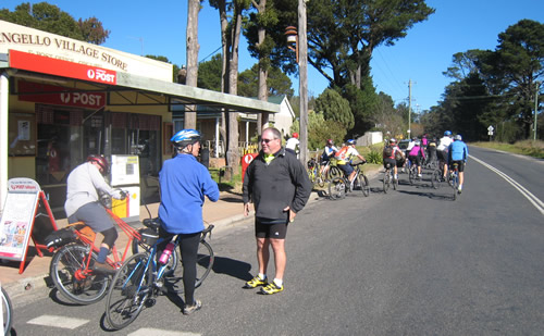 Cyclists at Wingello Village Store